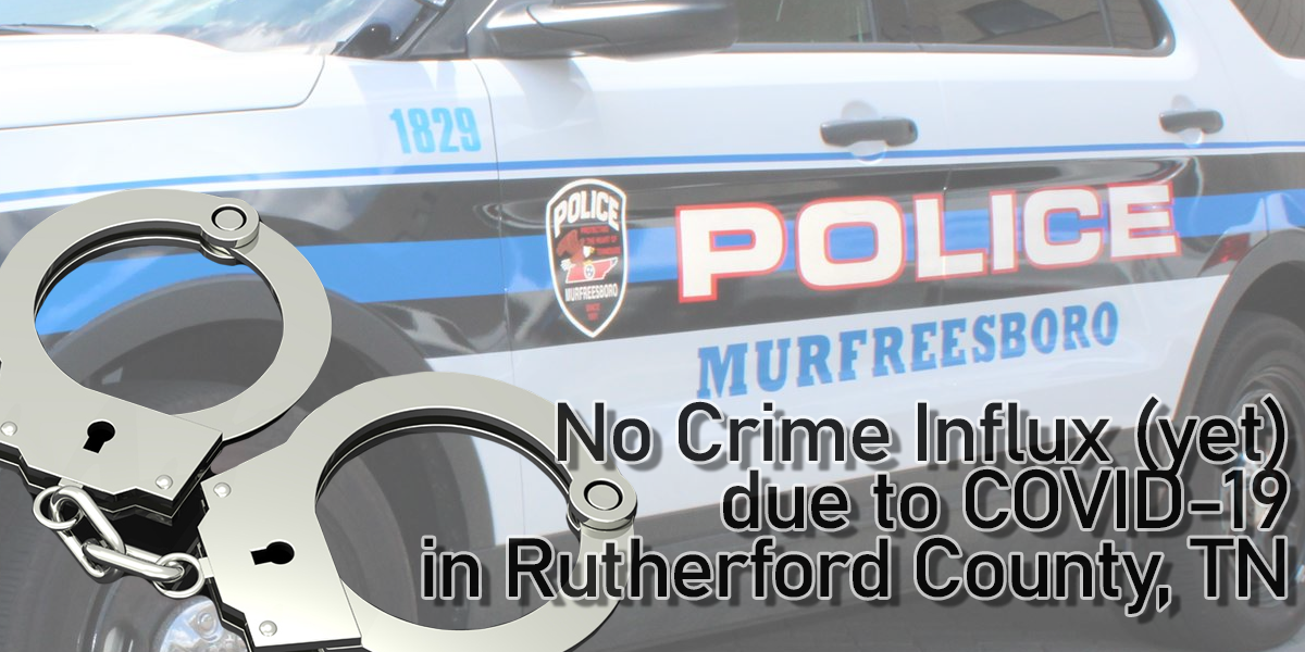 So far, no increase in crime due to COVID-19 for Rutherford County, TN
