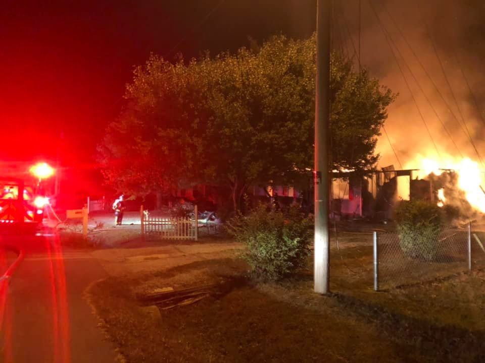 An early morning house fire in the 4400 block of Huntwood Drive Thursday has left four adults and one child displaced.
