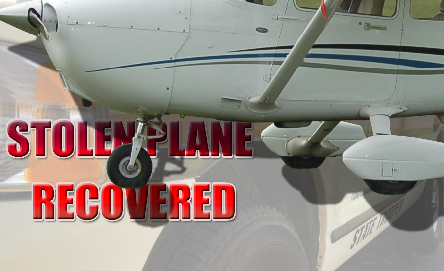 Stolen Airplane in Tennessee Recovered by the TN Highway Patrol