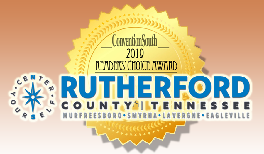 The Rutherford County Convention and Visitors Bureau has been nominated for a ConventionSouth Reader's Choice Award for Best Meeting Sites in the South!