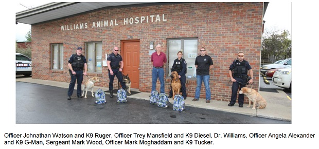 Donation to the Murfreesbroo Police K9 Unit