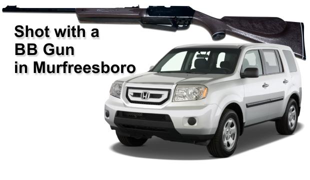BB gun hits the window of a passing car