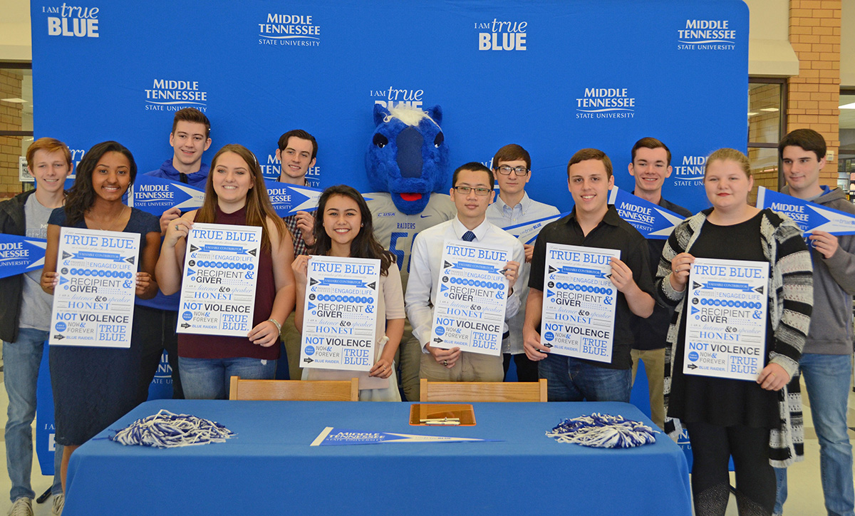 MTSU, Blackman Collegiate Academy honor top scholars at 'Academic Signing Day'