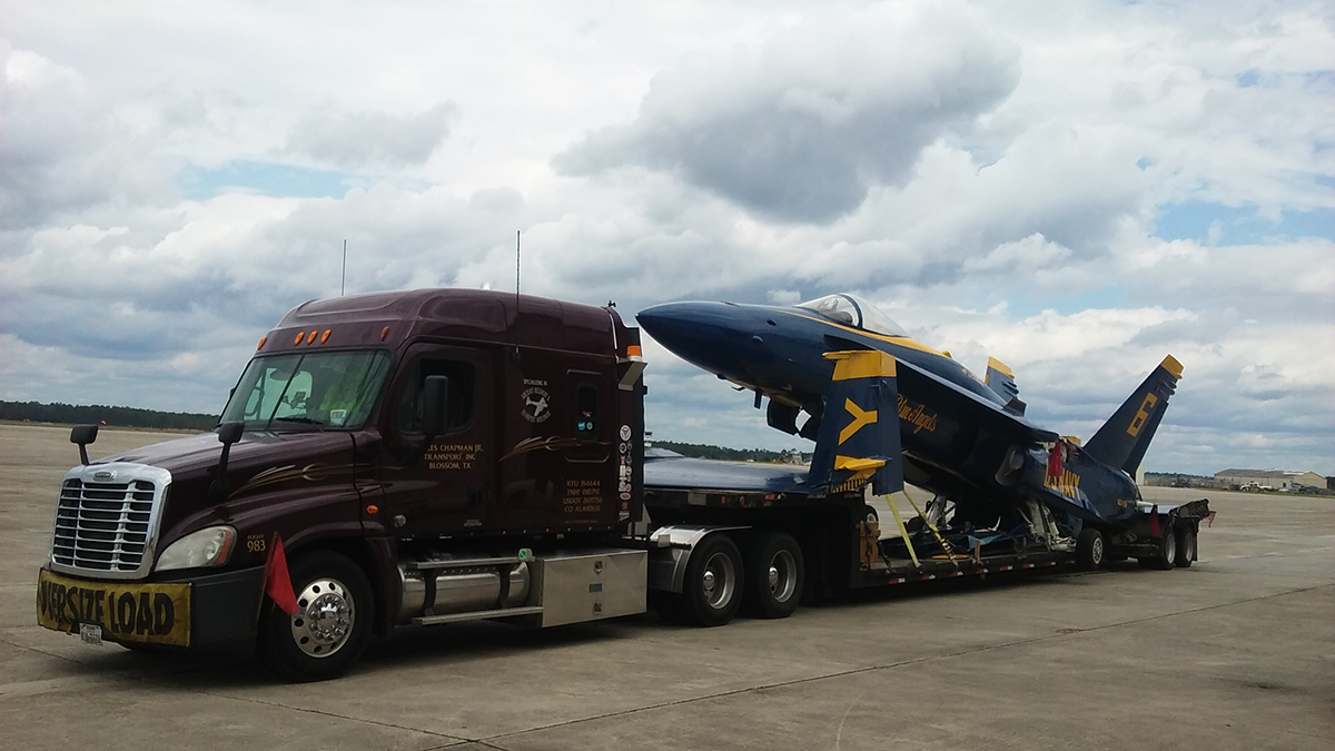 Blue Angel Jet Featured In Capt. Jeff Kuss USMC Memorial Arrives In Smyrna Thursday