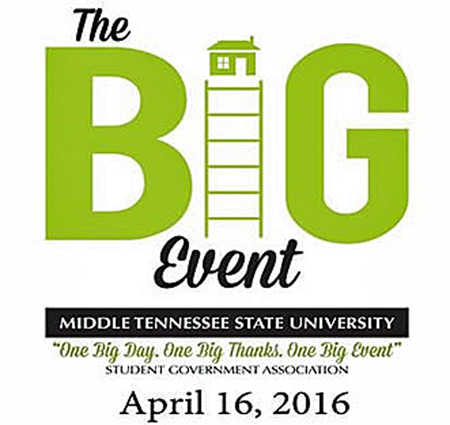 MTSU students 'go green' at playground for 'The BIG Event' April 16