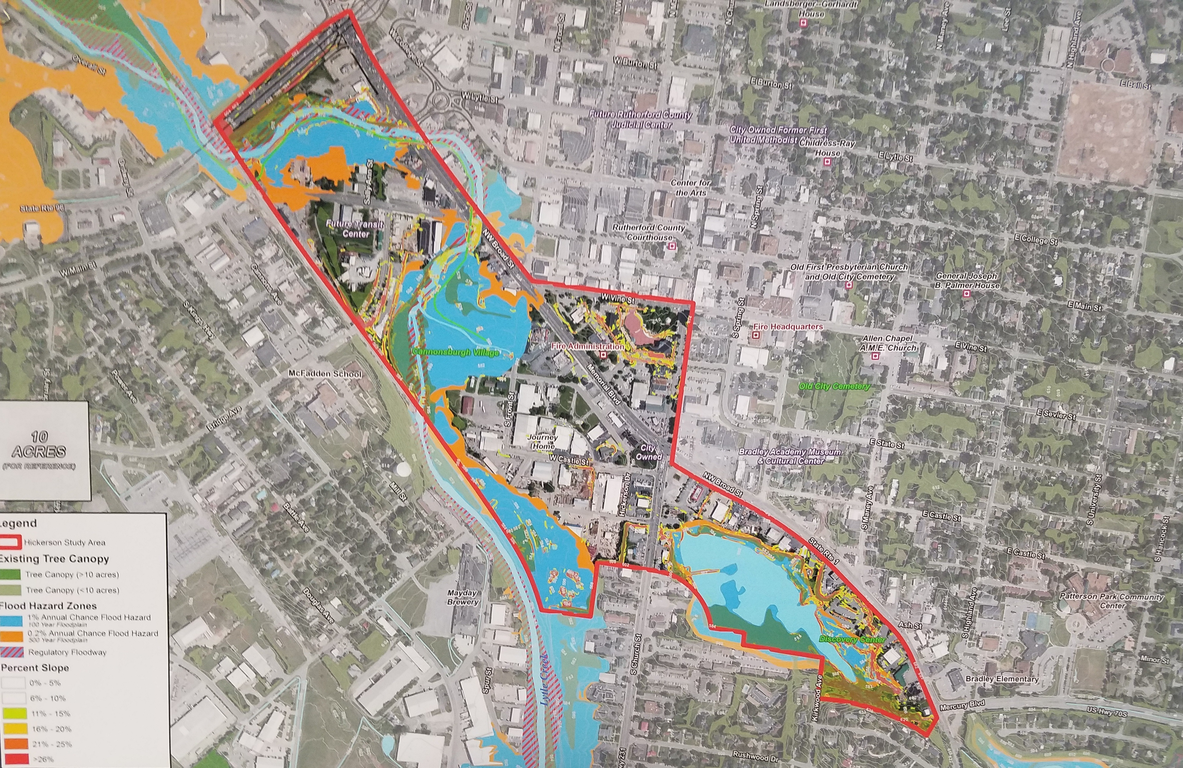 How Should the Bottoms Area in Murfreesboro Look in the Future?