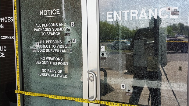 Who shot the window / door at the Rutherford County Juvenile Services Center in Murfreesboro