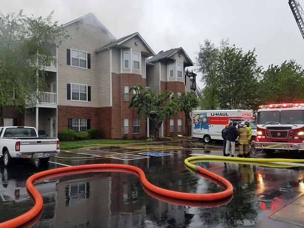UPDATE: Gun found outside apartment that caught fire in Murfreesboro previous night of blaze