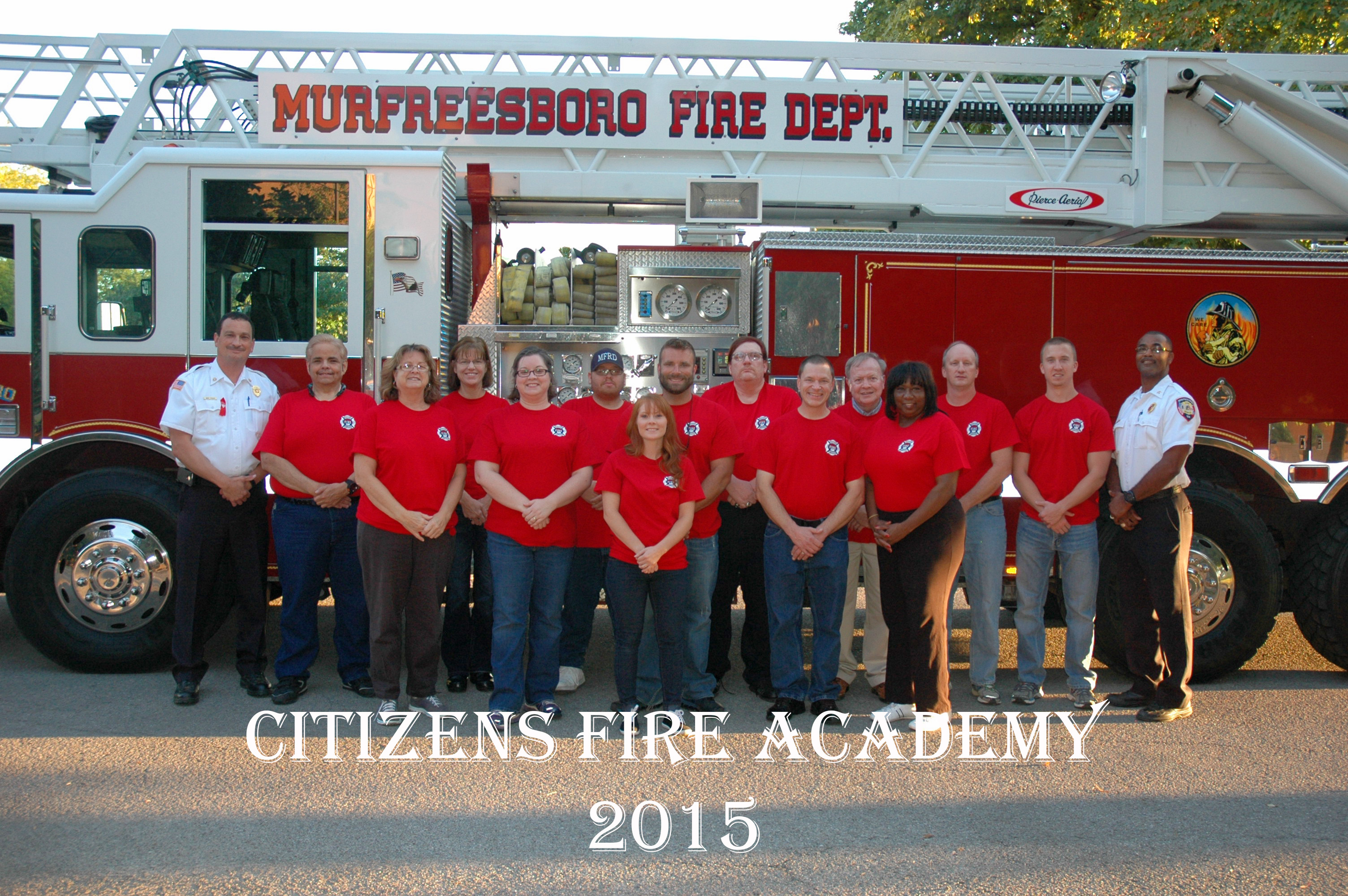 Murfreesboro Fire News And Radio Wildfire Engine Wiring Diagram Thirteen Graduate From Mfrds Citizens Academy