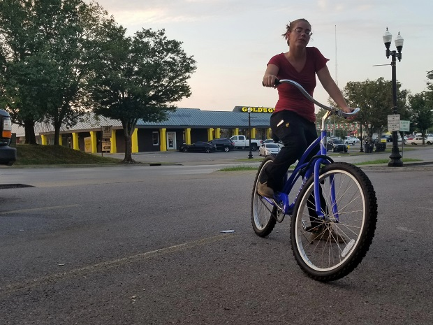 Goodwill employee gets new bike after bike seat stolen from her old bike
