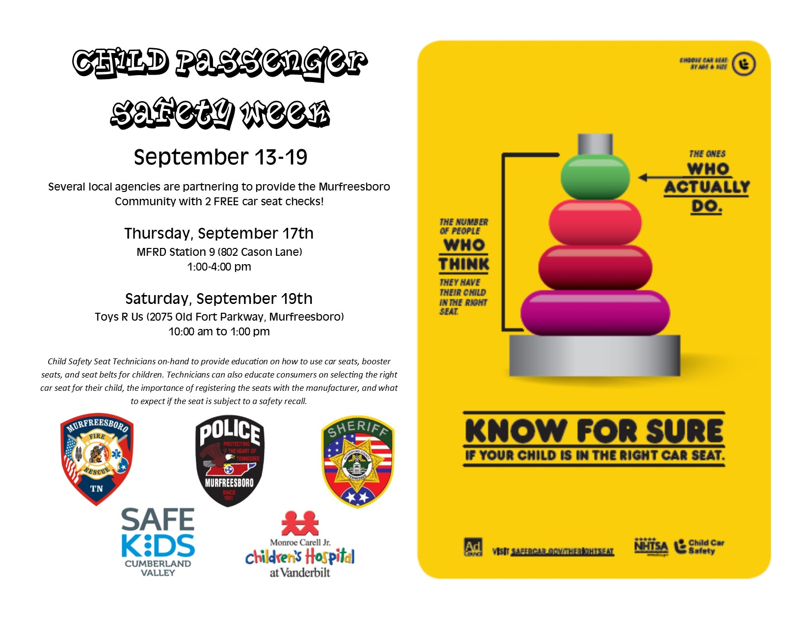 Is your child safety seat in correctly?