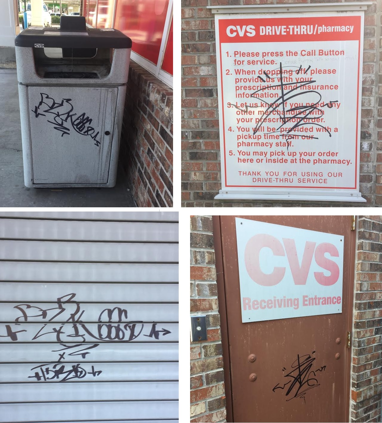 vandals strike the cvs pharmacy in murfreesboro