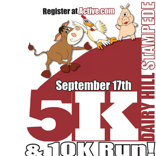 Dairy Hill Stampede 5/10K runners start at MTSU Dairy Sept. 17