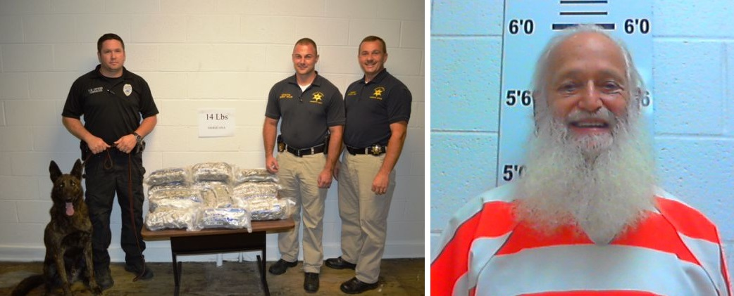 14-Pounds of marijuana in nearby DeKalb County, TN