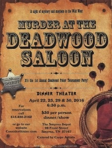 Special Murder Mystery and Dinner at the Smyrna Train Depot