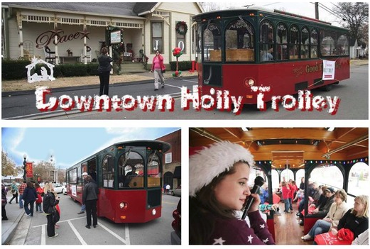 Ride the Trolley to shop in historic downtown Murfreesboro on December 12th