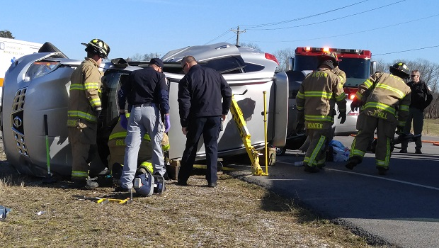 Rollover Accident on Friday Morning Near Ealgeville