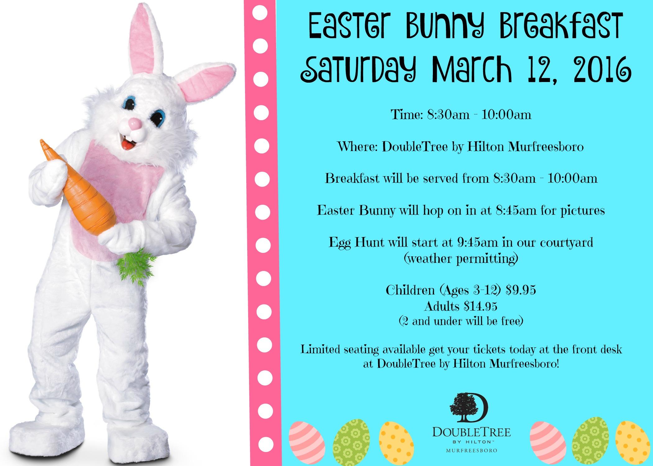 Easter Bunny Breakfast in Murfreesboro