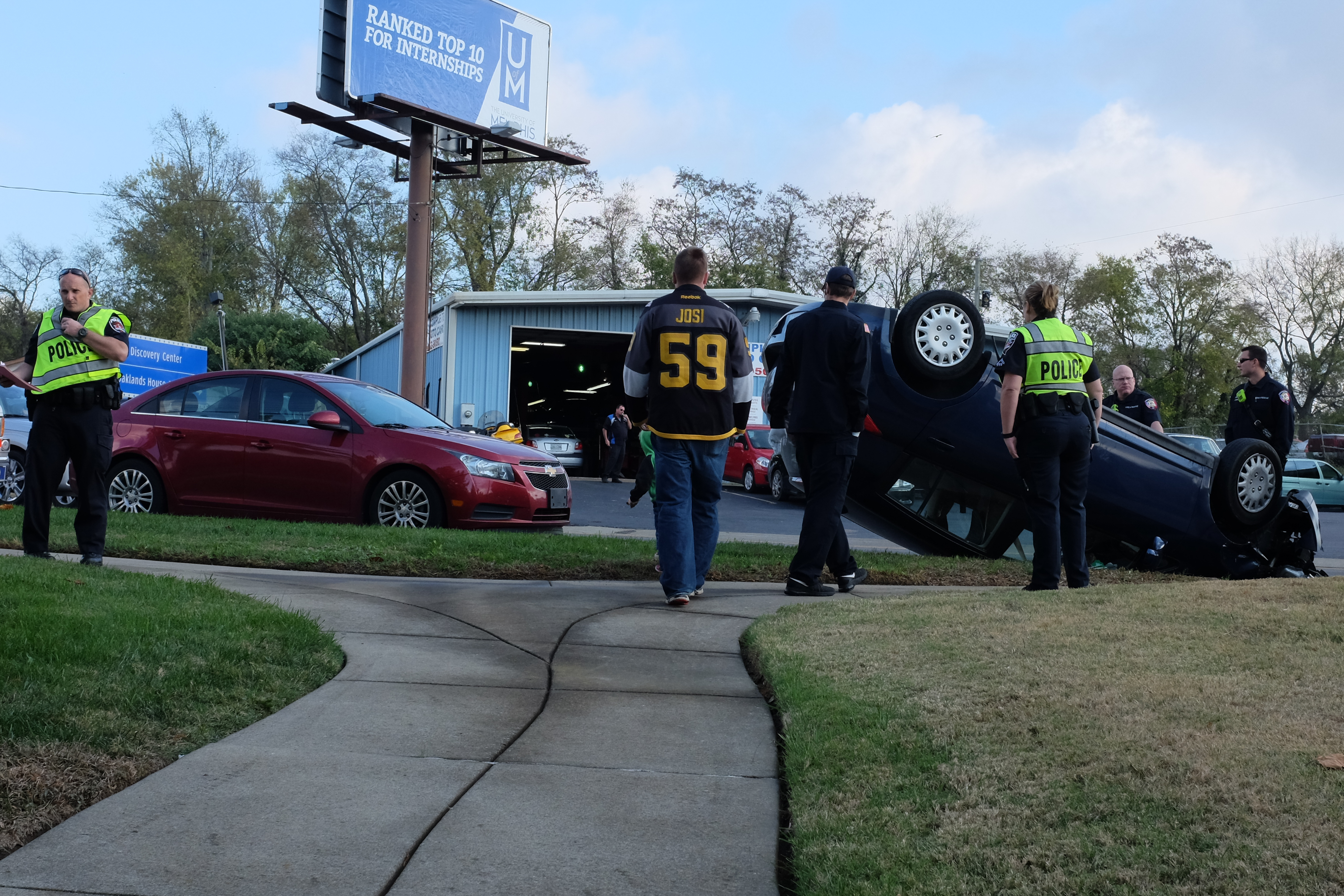 Rollover Accident on Southeast Broad Street Wednesday Morning