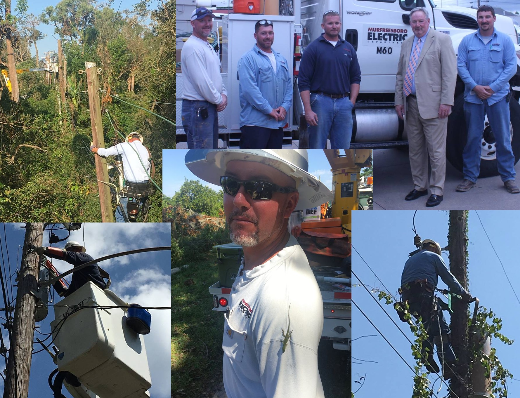 Welcome Back Murfreesboro Electric Linemen