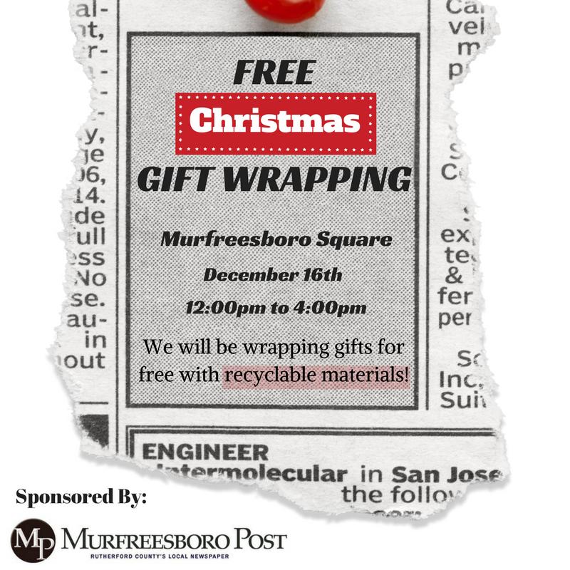 Rutherford County to Provide Free Gift Wrapping Event Using Recyclable Materials