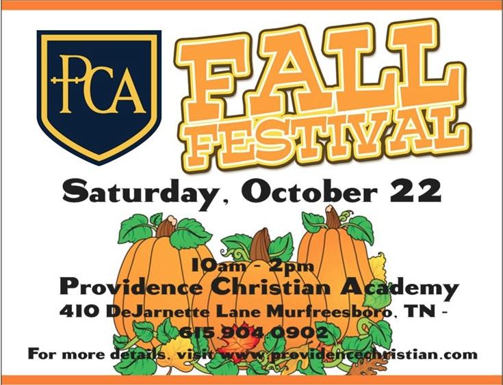 Providence Christian Academy Fall Festival