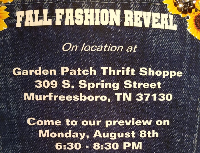 Garden Patch Thrift Shoppe Hosts Fall Fashion Reveal