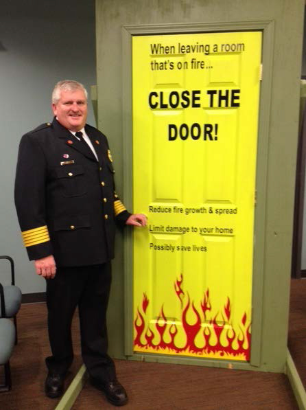 Close Door On Fire : Fire safety close the door when sleeping murfreesboro
