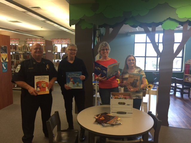 The Friends of Smyrna Library donated over 100 children's books