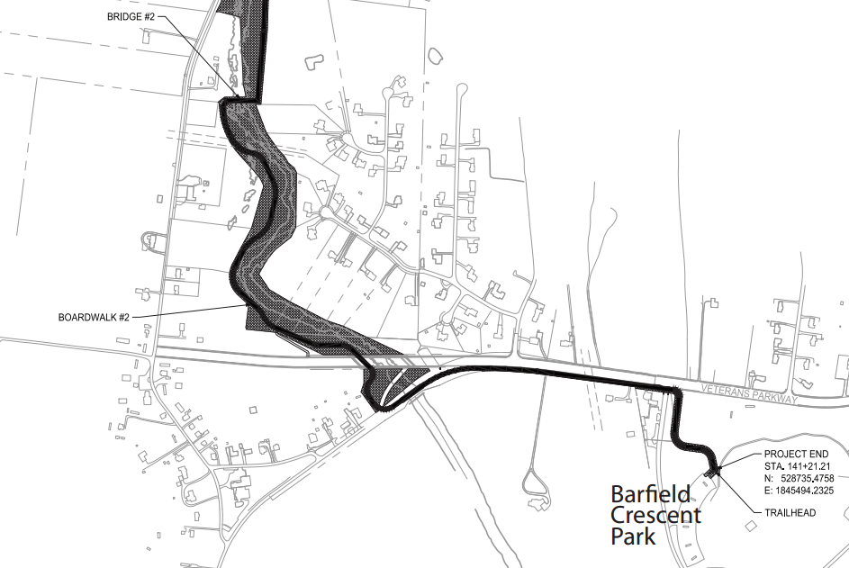 Greenway Trail Extension into Barfield Park