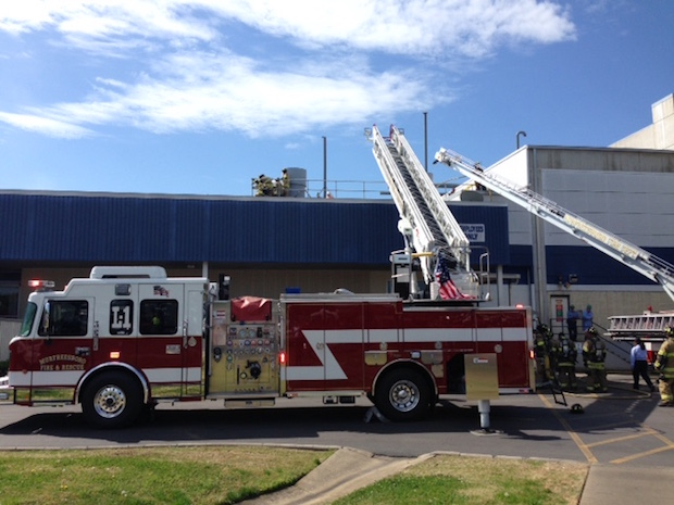 MFRD Responds to Roof Fire at General Mills