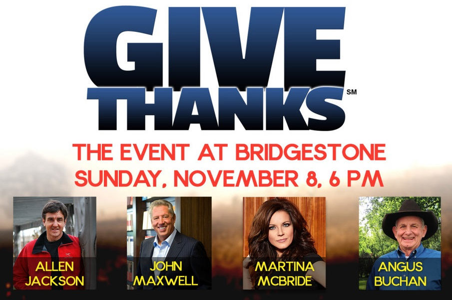 World Outreach Church of Murfreesboro presenting the Give Thanks event in Nashville