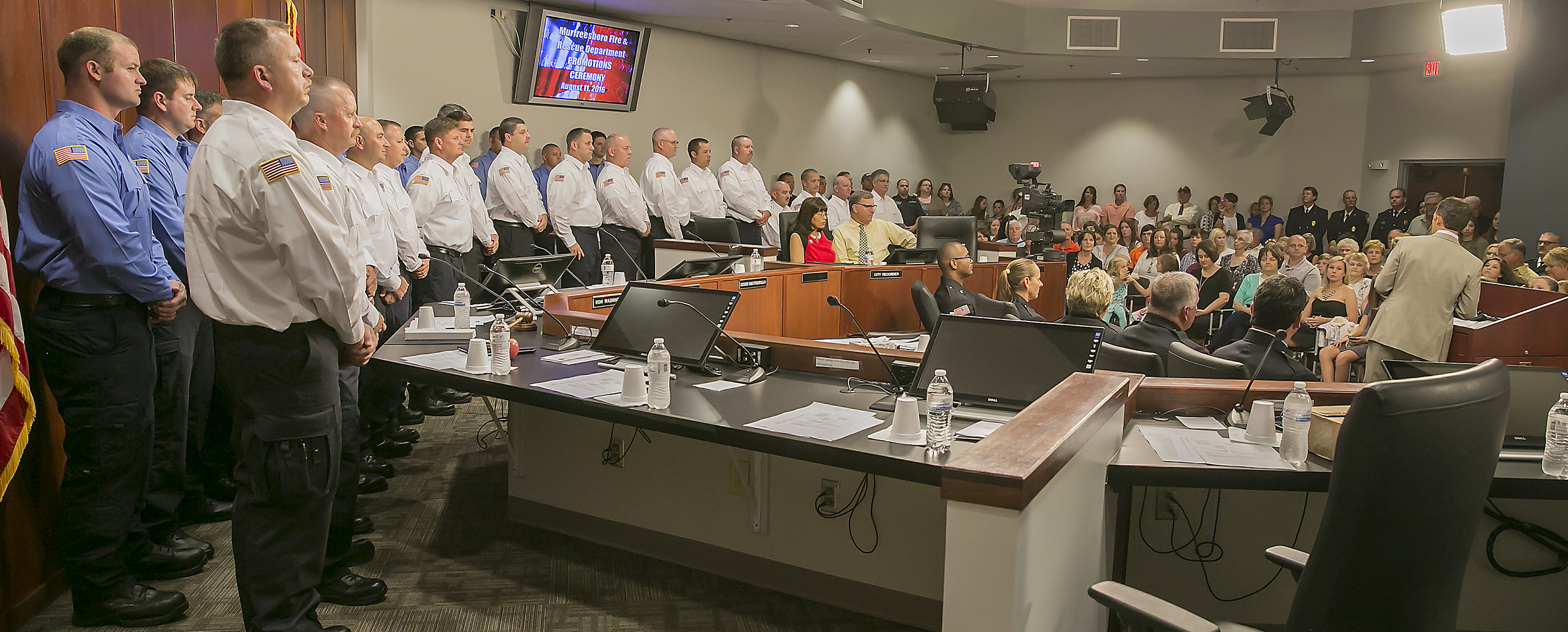 Several Fire Personnel Recognized at Promotional Pinning Ceremony