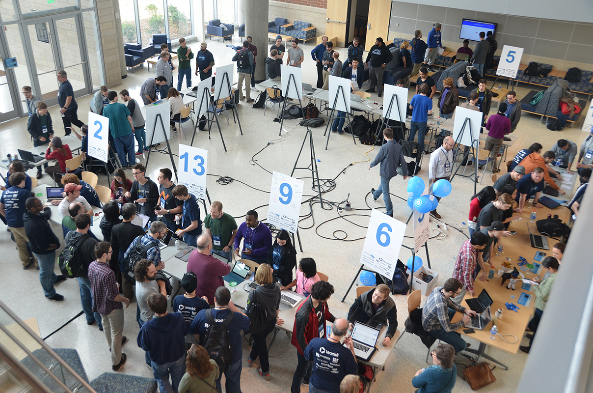 Tech-savvy college students brainstorm at second Hack-MT
