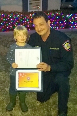 Four Year Old Raises over $350 for Murfreesboro Fire and Rescue During Christmas