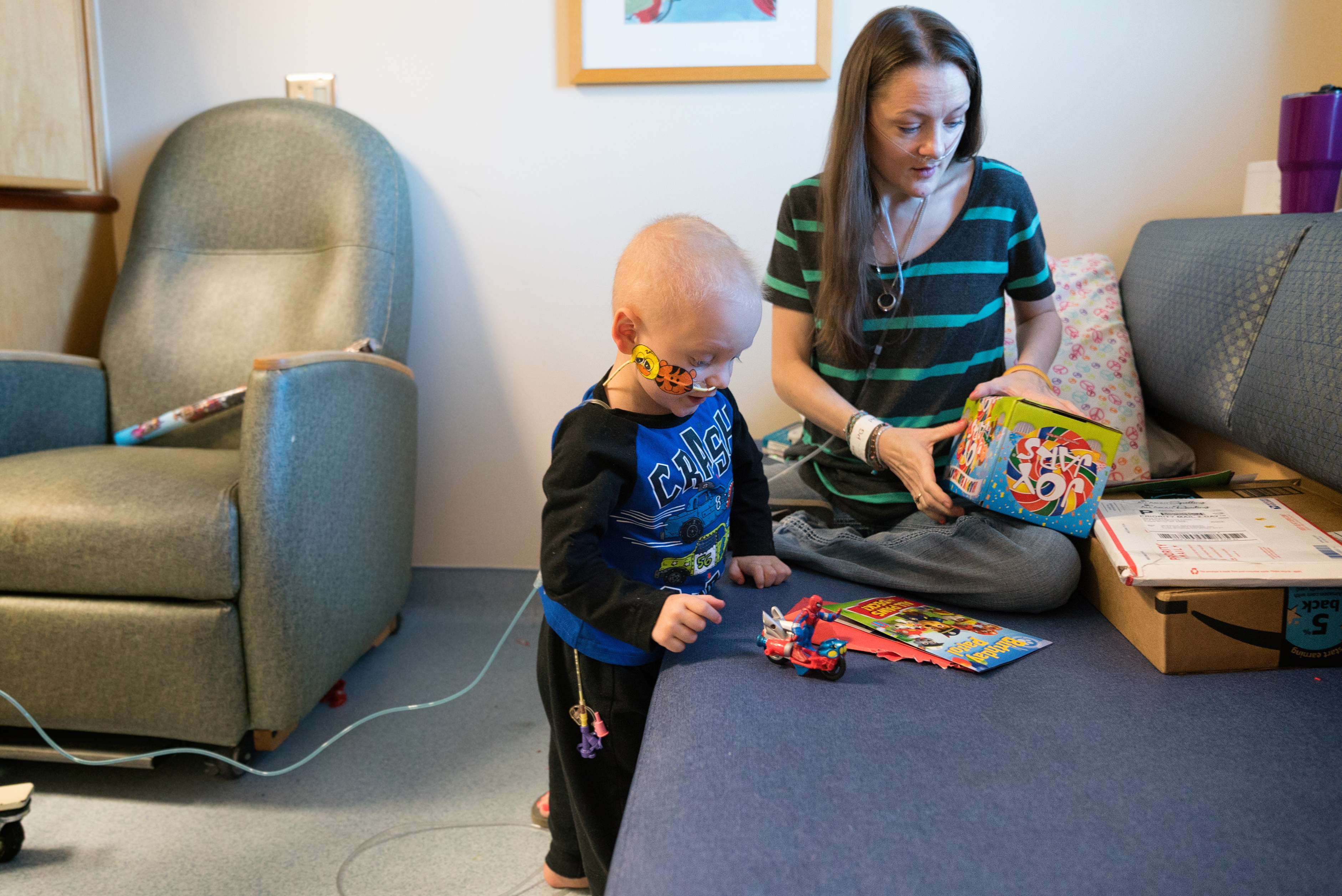 Christiana mom and son both facing battles of their life - She aims to fill his hospital room with birthday cards