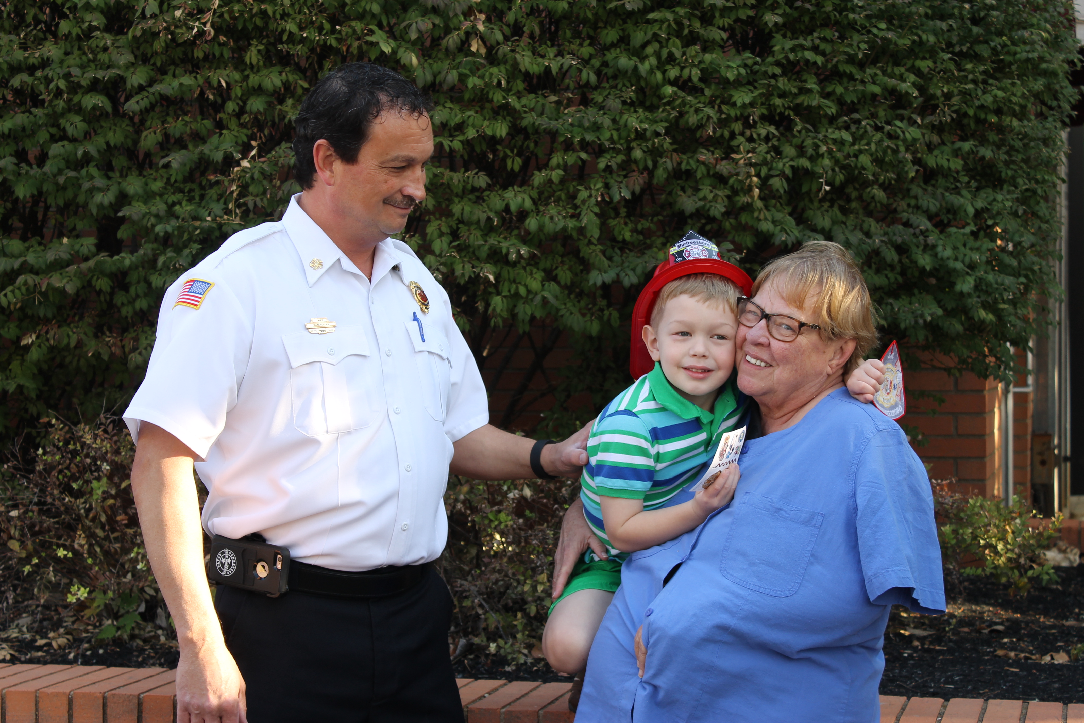 Young boy recognized by the Murfreesboro Fire and Rescue Department