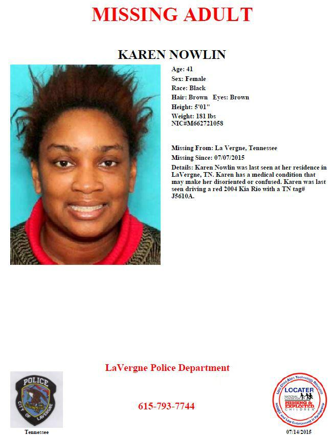 Missing LaVergne woman FOUND