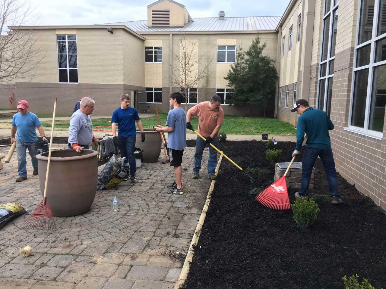 Eagle Scout Troop 398 project at Siegel High School