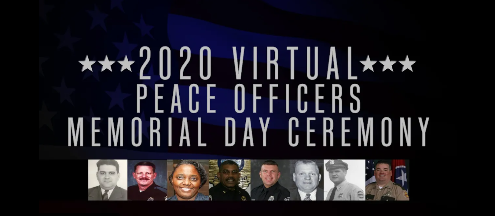 The annual Murfreesboro Police Department (MPD) Peace Officers Memorial ceremony in honor of fallen officers, will air on various broadcast and social media platforms, at 12:00 p.m. Thursday, May 14.