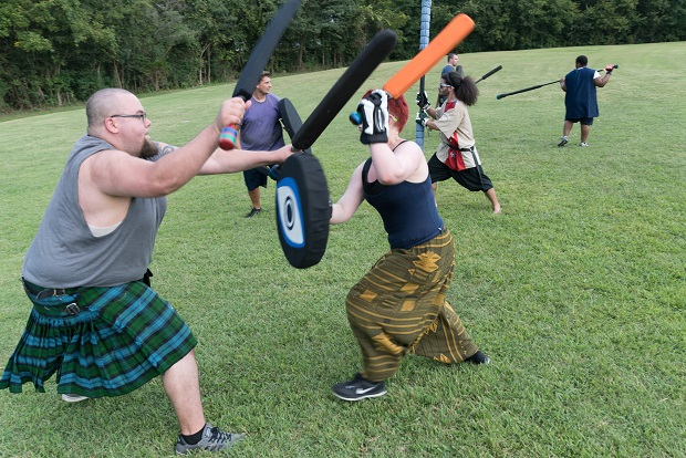 Medieval combat and fights in Murfreesboro at Barfield Park