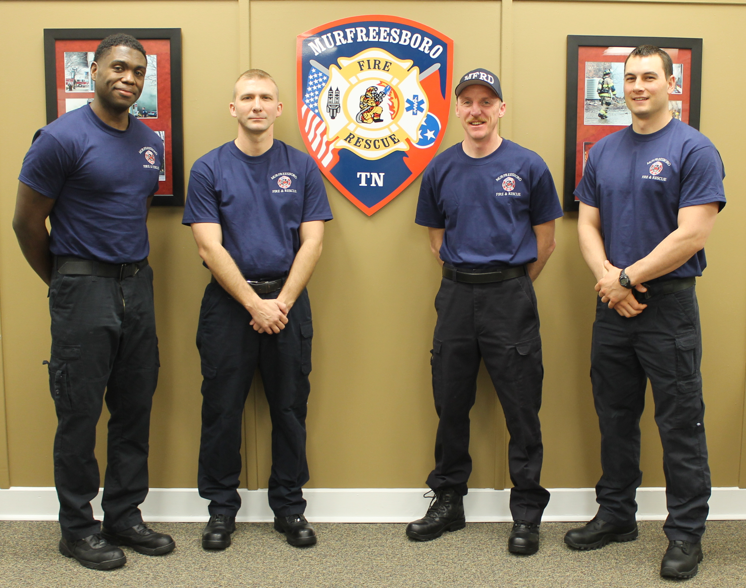 Welcome four NEW firefighters to Murfreesboro | Murfreesboro fire, Fire Department, Murfreesboro news, Corian Barrett, Jason Bonniger, Marcus Cartwright, Eric Compton