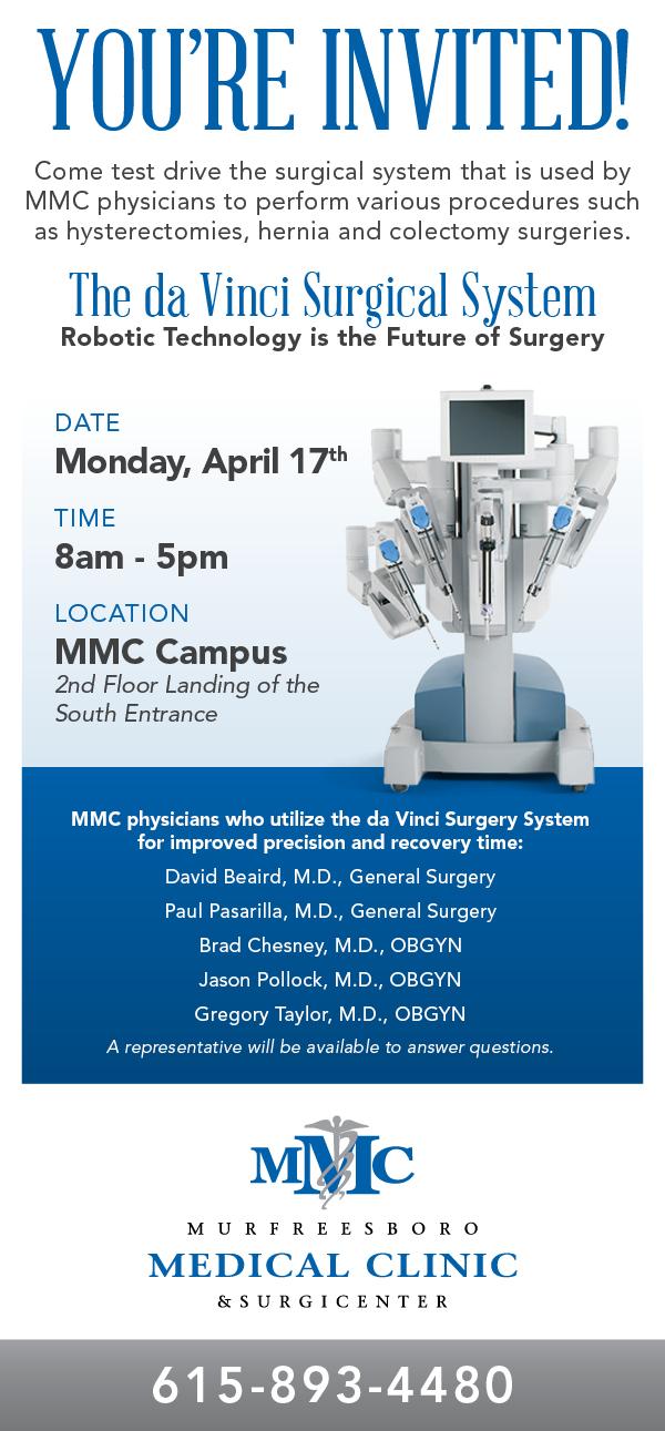 Murfreesboro Medical Clinic General Surgeon Utilizes Robotics for Better Patient Care