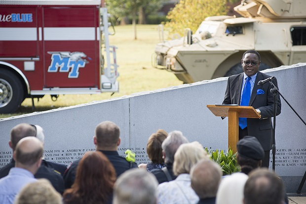 MTSU hosts reflective 9/11 observance to 'never forget