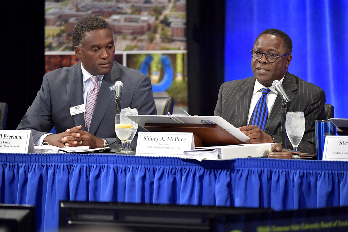 MTSU seeing increase in high-ability students, McPhee shares with Board of Trustees