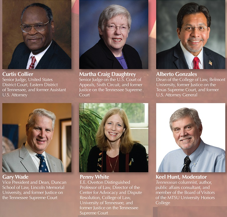'Eminent' judges' panel will discuss judiciary's role at MTSU Constitution Day Sept. 20