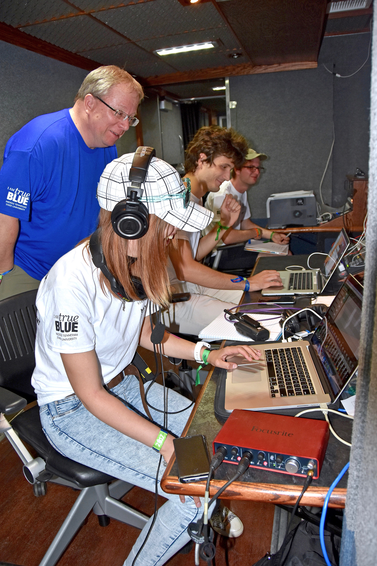 MTSU multimedia students enjoy 'nonstop production' at Bonnaroo stage