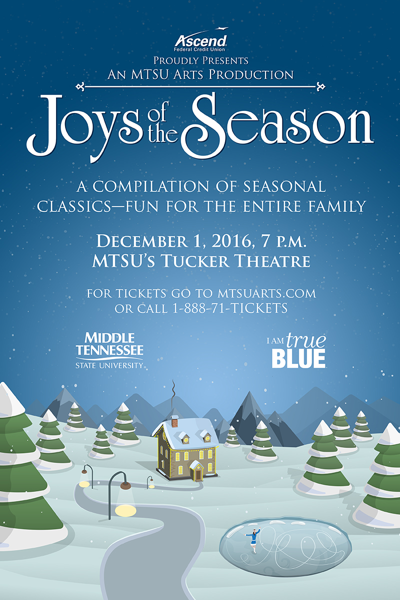 MTSU Arts brings 'Joys of the Season' to community Dec. 1 in Tucker Theatre