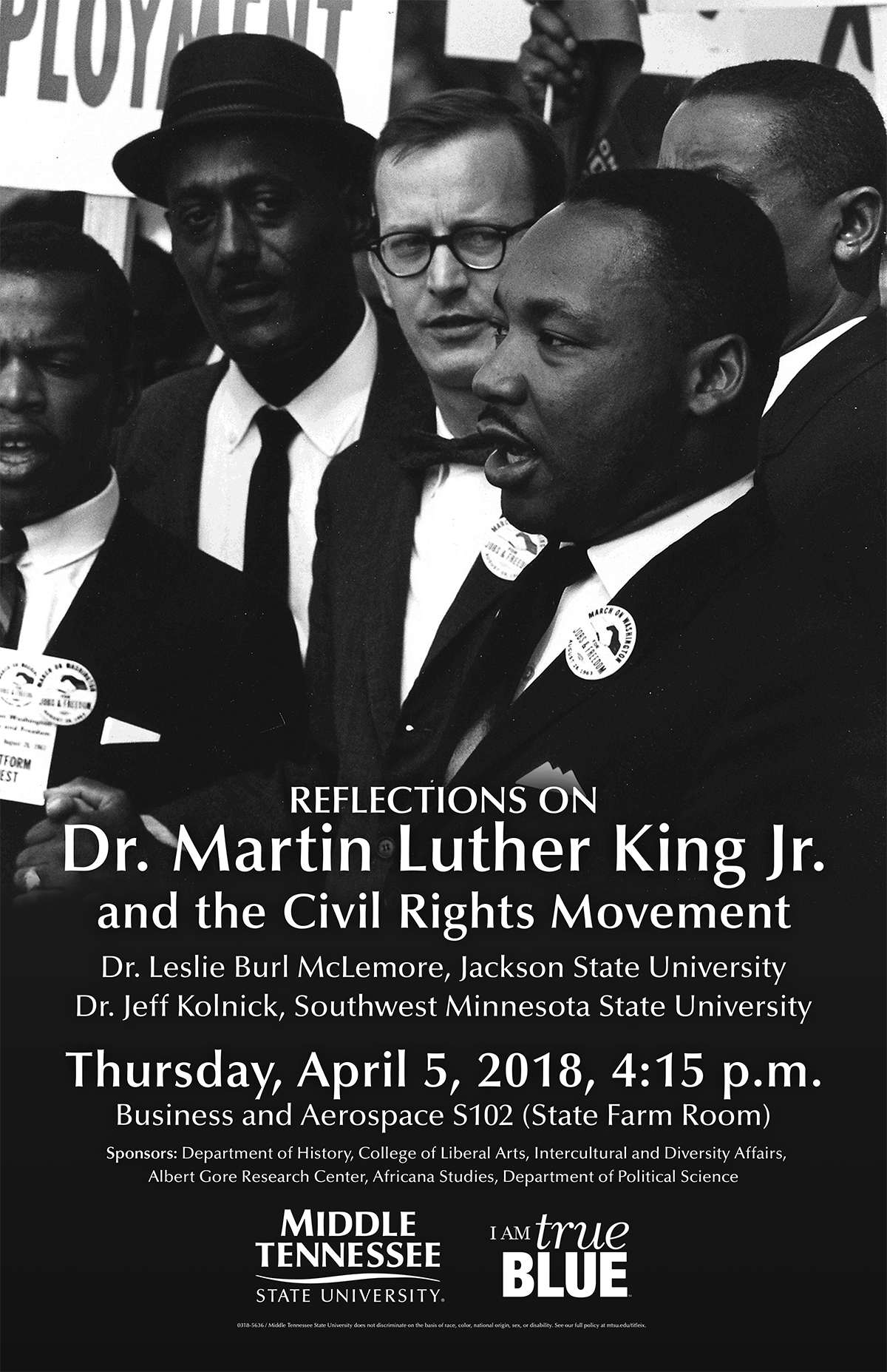 Civil rights activist, colleague visit MTSU Thursday to reflect on MLK and social justice
