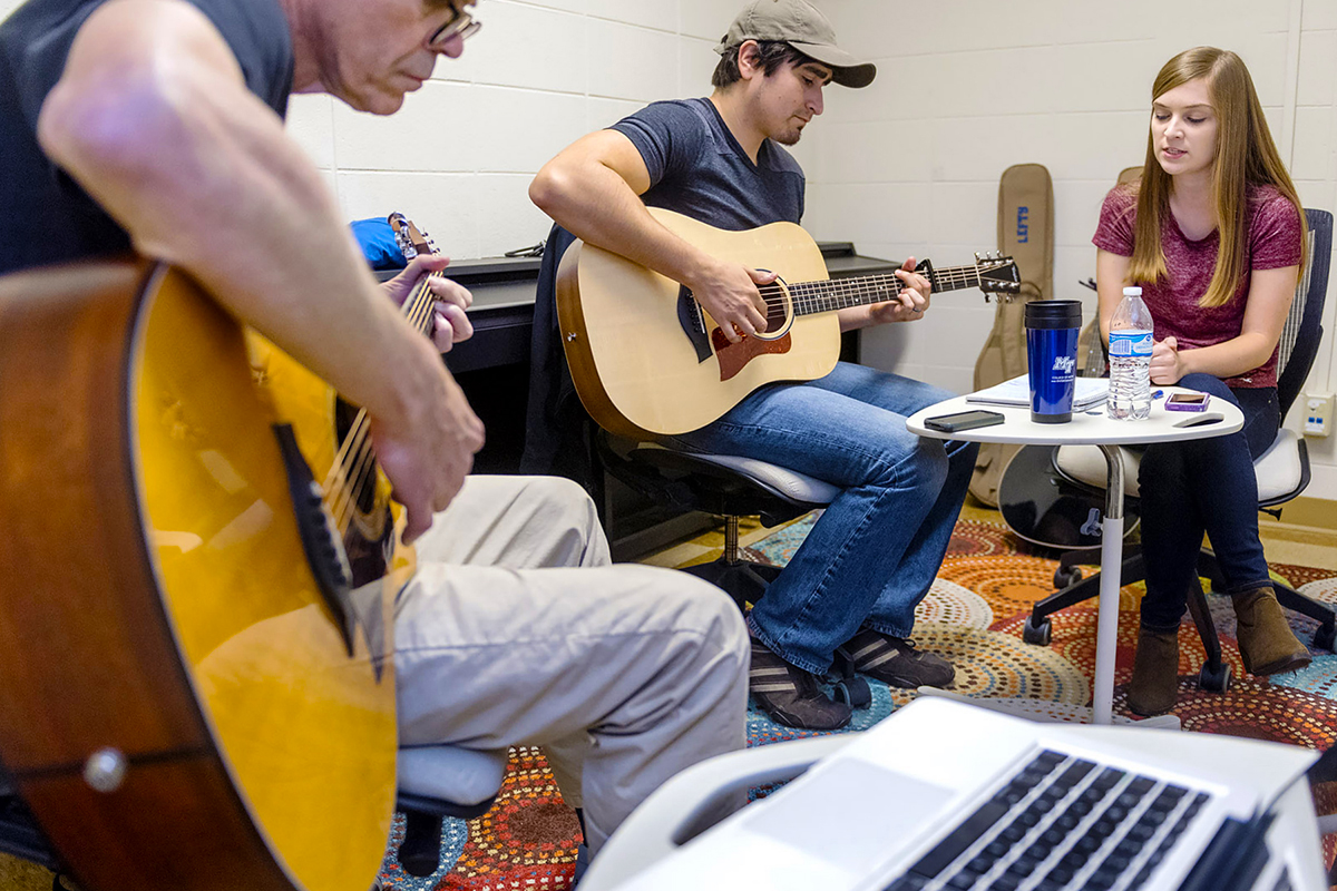 Songwriting trios help local veterans heal at MTSU 'Operation Song' session